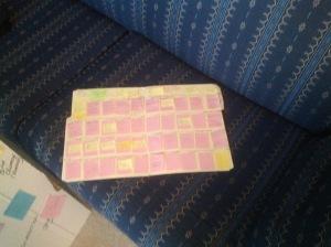 Diana's tiny plotting board
